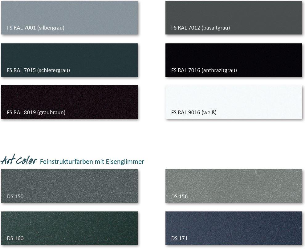 Strukturfarben für Aluminiumfenster
